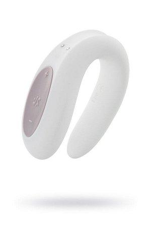 Многофункциональный стимулятор для пар Satisfyer Partner Double Joy, Силикон, Белый, 18 см