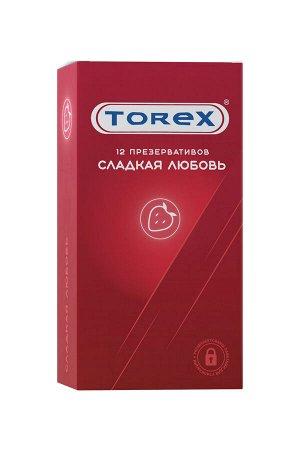 Презервативы сладкая любовь TOREX  латекс, №12, 19 см