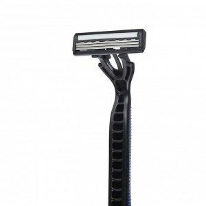 Станки для бритья с тройным лезвием 5шт для мужчин, плавающая головка, силикон, пластик