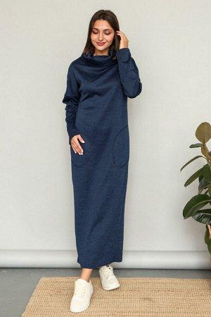 Платье 379/2, темно-синий меланж