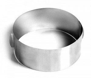 Форма для выпечки металлическая раздвижная | Кольцо 16-30 см, высота 12 см