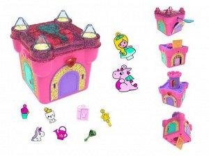 Волшебная шкатулка с секретами Funlockets. Заколдованный замок. Разгадай загадки замка и освободи принцессу! Подберите ключики к дверцам и найдите сек2373
