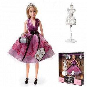 Кукла ABtoys Emily Сиреневая серия с клатчем, маникеном, аксессуарами, 30см100