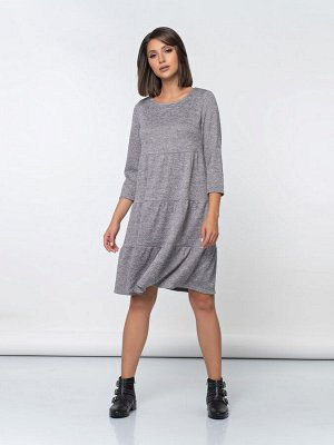 Платье (493/серый меланж)