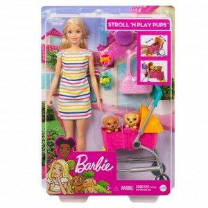 Игровой набор Mattel Barbie Барби с щенками в коляске5