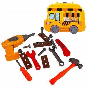 Игровой набор ABtoys Чудо-чемоданчик на колесиках. Инструменты с дрелью на батарейках, 26 предметов1140