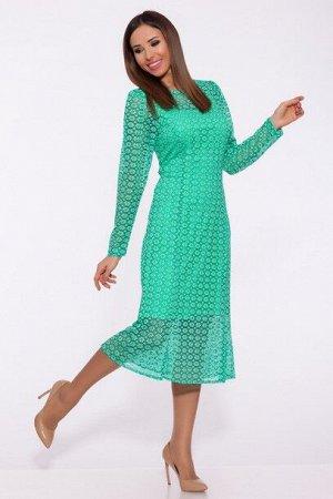 Платье 986 Яблоко/Ментоловый