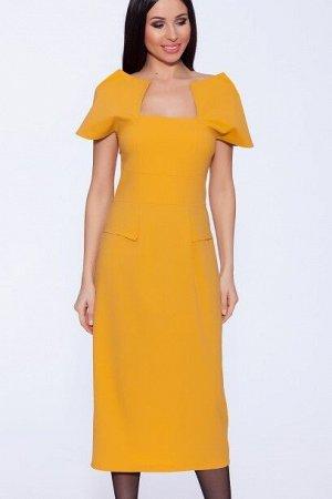 Платье квадрат Горчица