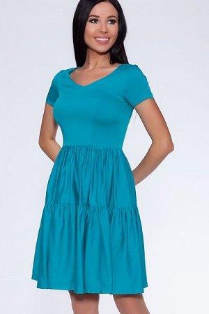 """Платье 440 """"Тенсел"""", морская волна"""