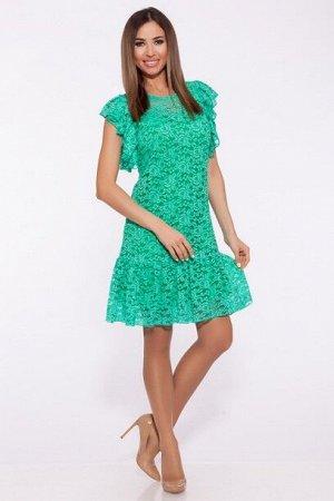 Платье 993 Ментол/яблоко/Бирюзовый