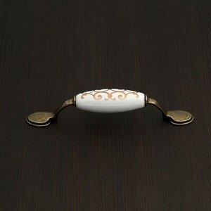 Ручка скоба Ceramics 015 LIGHT, 96 мм, керамическая, цвет бронза