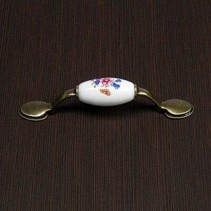 Ручка скоба Ceramics 013 LIGHT, 76 мм, керамическая, цвет бронза