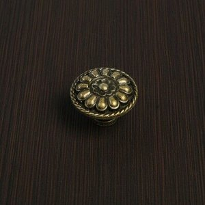 Ручка кнопка VINTAGE 015, цвет бронза