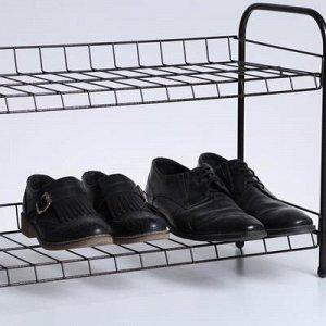 Полка для обуви разборная, 2 яруса, 68?28?44 см, цвет медный антик