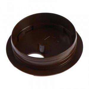Заглушка мебельная для кабеля, d=62, коричневый