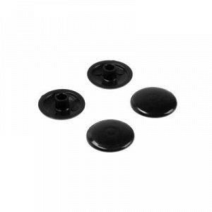 Заглушки на мебельную стяжку 7 мм, черный, 50 шт.
