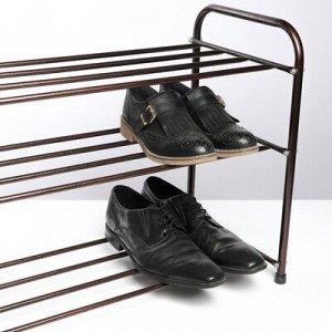 Подставка для обуви, 3 яруса, 65?32?48,5 см, цвет медный антик