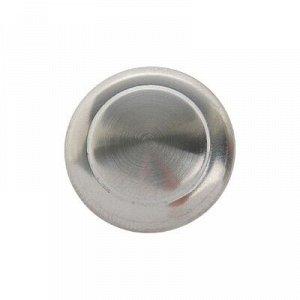 Ручка кнопка, d=23 мм, цвет матовый никель