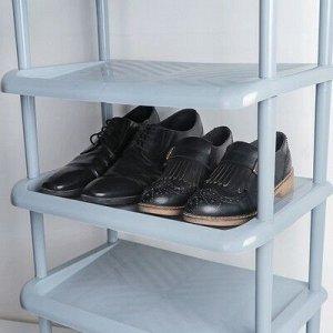Этажерка для обуви «Комфорт», 3 яруса, 31?49?56 см, цвет серый