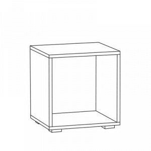 Тумба Альба, 400x361x420, Белый премиум/Дуб крафт золотой