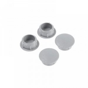 Заглушки декоративные12 мм, светло-серый, 30 шт.