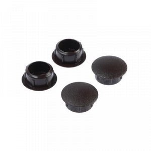 Заглушки декоративные12 мм, темно-коричневый, 30 шт.