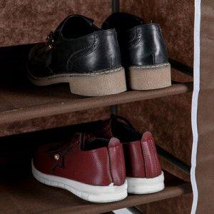 Этажерка для обуви нетканая, 4 яруса, 60?35?65 см, цвет МИКС