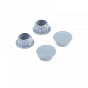 Заглушки декоративные10 мм, светло-серый, 35 шт.