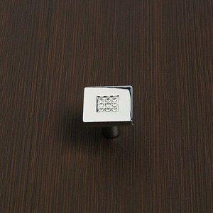 Ручка-кнопка CRL03, 28х28х24 мм, хром