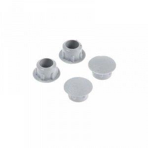 Заглушки декоративные 8 мм, светло-серый, 35 шт.