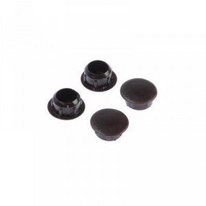 Заглушки декоративные10 мм, темно-коричневый, 35 шт.