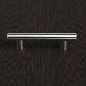Ручка рейлинг, облегченная, d=12 мм, м/о 64 мм, цвет мат. никель
