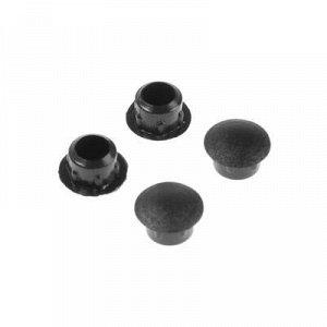 Заглушки декоративные 8 мм, черный, 35 шт.