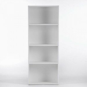Стеллаж Лофт 1300 4 ниши, 1284х244х500, Белый