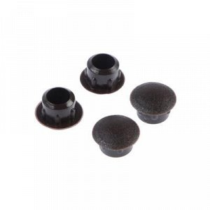 Заглушки декоративные 8 мм, темно-коричневый, 35 шт.