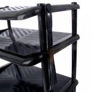 Этажерка для обуви с ложкой «Комфорт», 4 яруса, 49,5?31?71,5 см, цвет чёрный