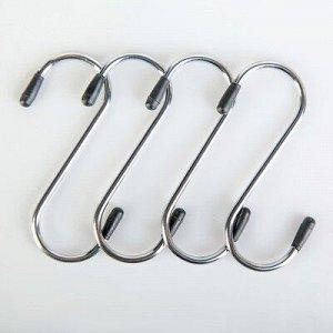 Набор крючков для рейлинга, d=2,5 см, 4 шт
