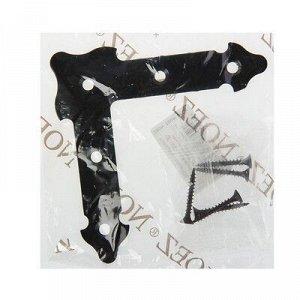 Уголок декоративный прямой УДП 110-S, цвет черный матовый