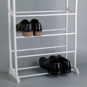 Полка для обуви, 7 ярусов, 50?24,5?95 см, цвет белый