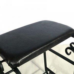 Подставка для обуви с сиденьем «Эталон», 3 яруса, 90?30?60 см, цвет чёрный, форма МИКС