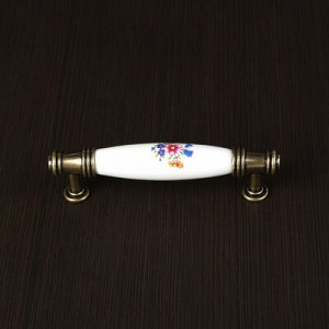 Ручка скоба Ceramics 008, 96 мм, керамическая, цвет бронза