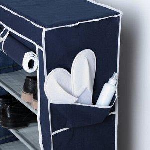 Полка для обуви, 5 ярусов, 60?28?90 см, цвет синий