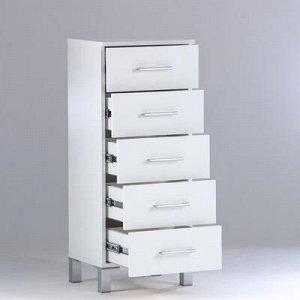 Комод для ванной комнаты, с пятью ящиками 40 x 34 x 98,6 см