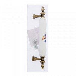 Ручка скоба Ceramics 014, 96 мм, керамическая, с рисунком, цвет бронза