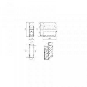Тумба напольная Вега 2301, 23,2 x 66 x 70 см