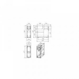 Тумба напольная Вега 2302 , 23 x 66 x 70 см