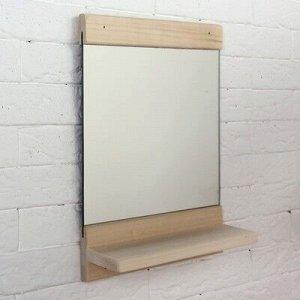"Зеркало ""Классика"" с полочкой, 34 х 25см"