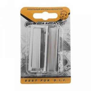 Ручки для стеклянныx дверей, хром, 2 шт.