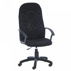 """Кресло офисное """"Соты"""", черное, с подлокотниками"""