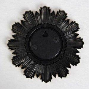 Зеркало настенное, d зеркальной поверхности 11 см, МИКС